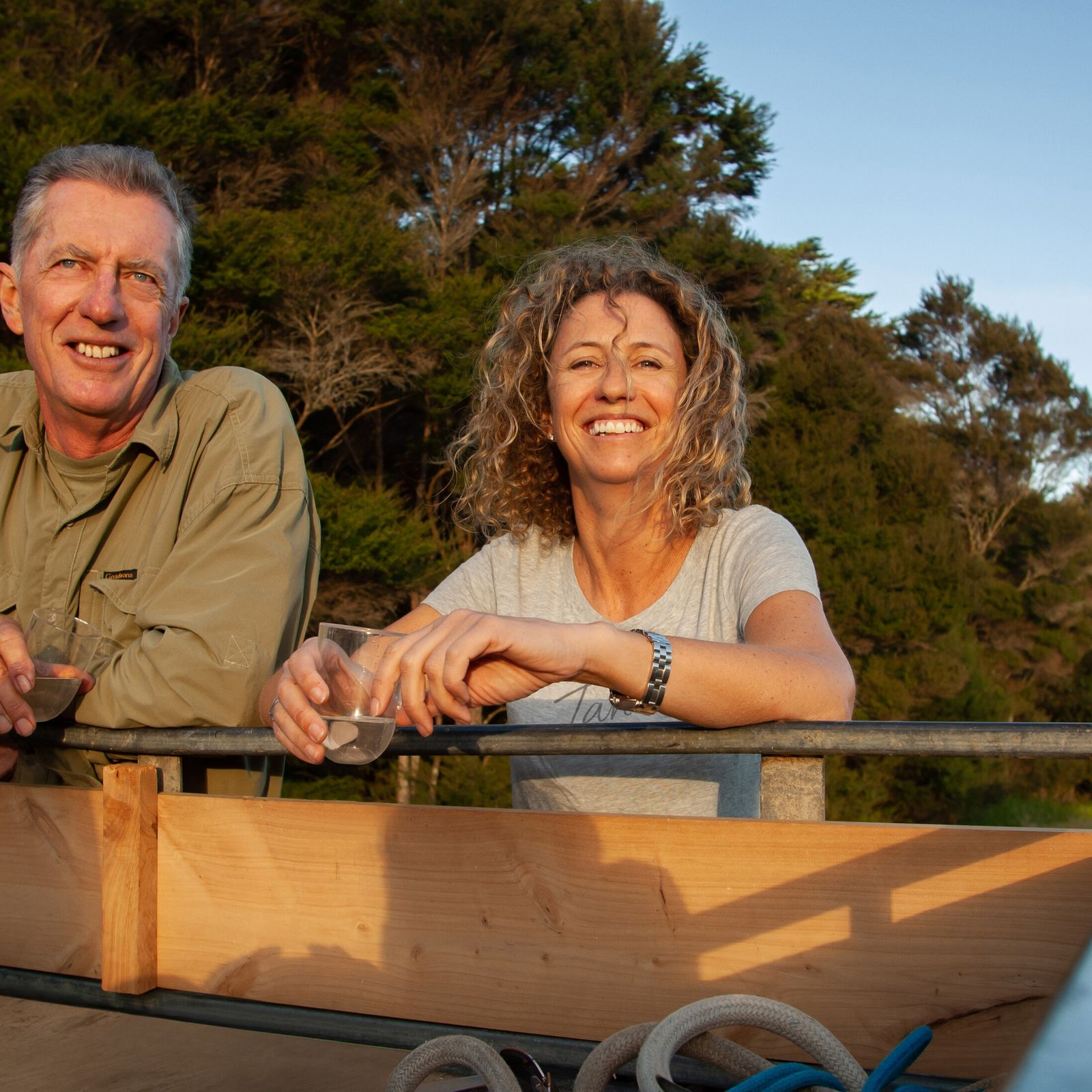 Suzan Craig with her father, Dr John Craig, a professor in environmental management and zoology.