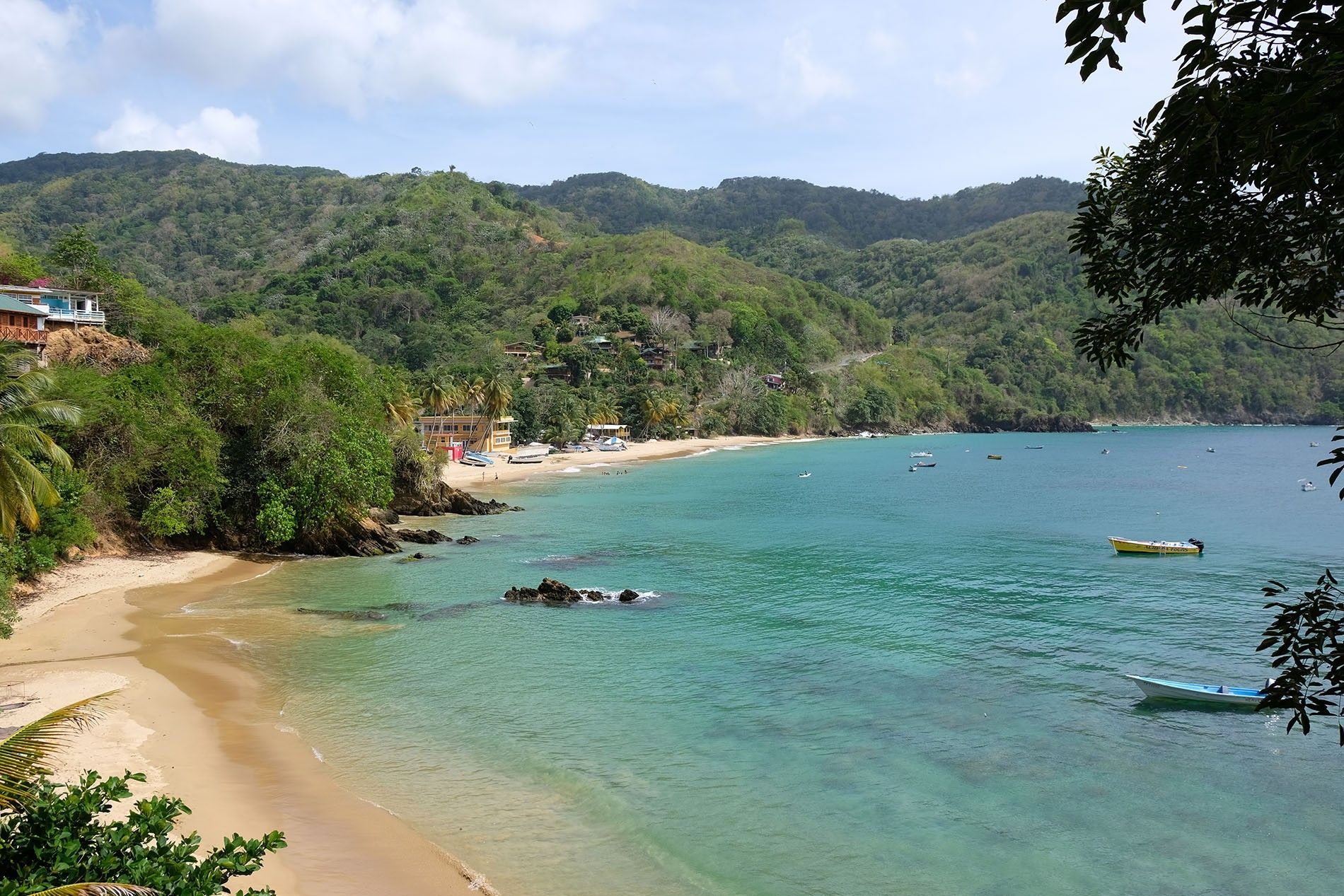 It's possible to fall in love with a different beach every day in Tobago.