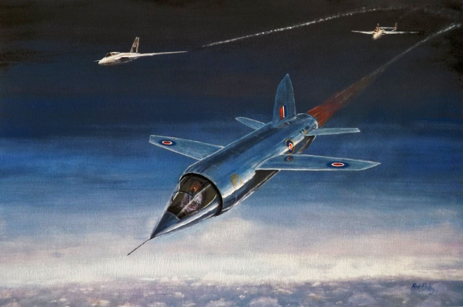 Aviation artist and former aerodynamics research engineer Rod Kirkby's impression of what a successful flight in the ...