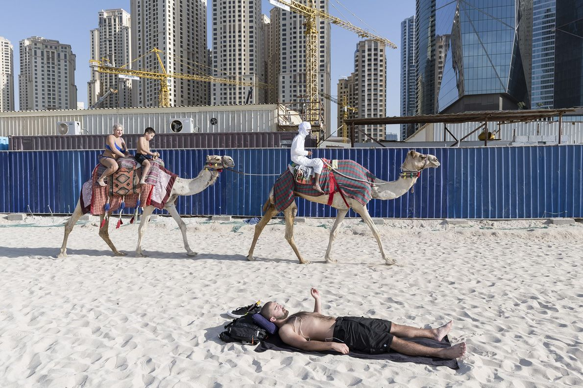 The Beach at JBR is an outdoor network of shops, restaurants, and sandy beachfront views.