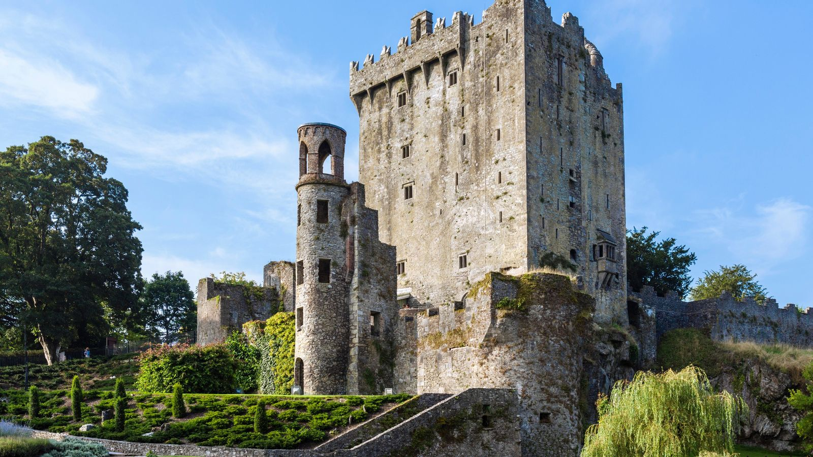 Blarney Castle, County Cork. The famous – and famously kissed – Blarney stone lies on the top ...