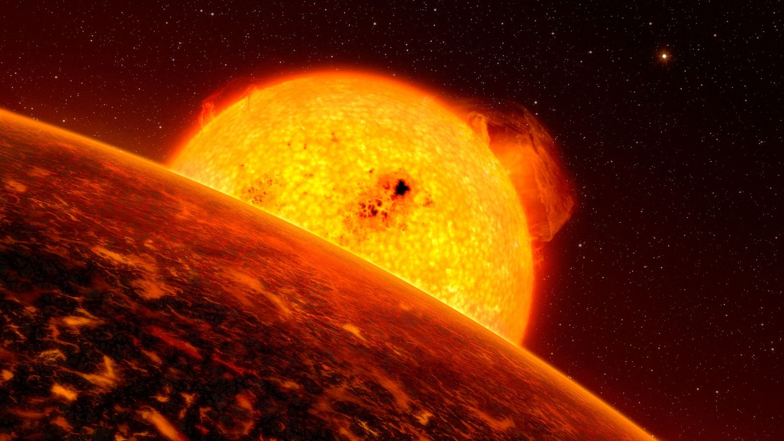 An exoplanet orbits its host star in an illustration. A fresh look at information captured by ...