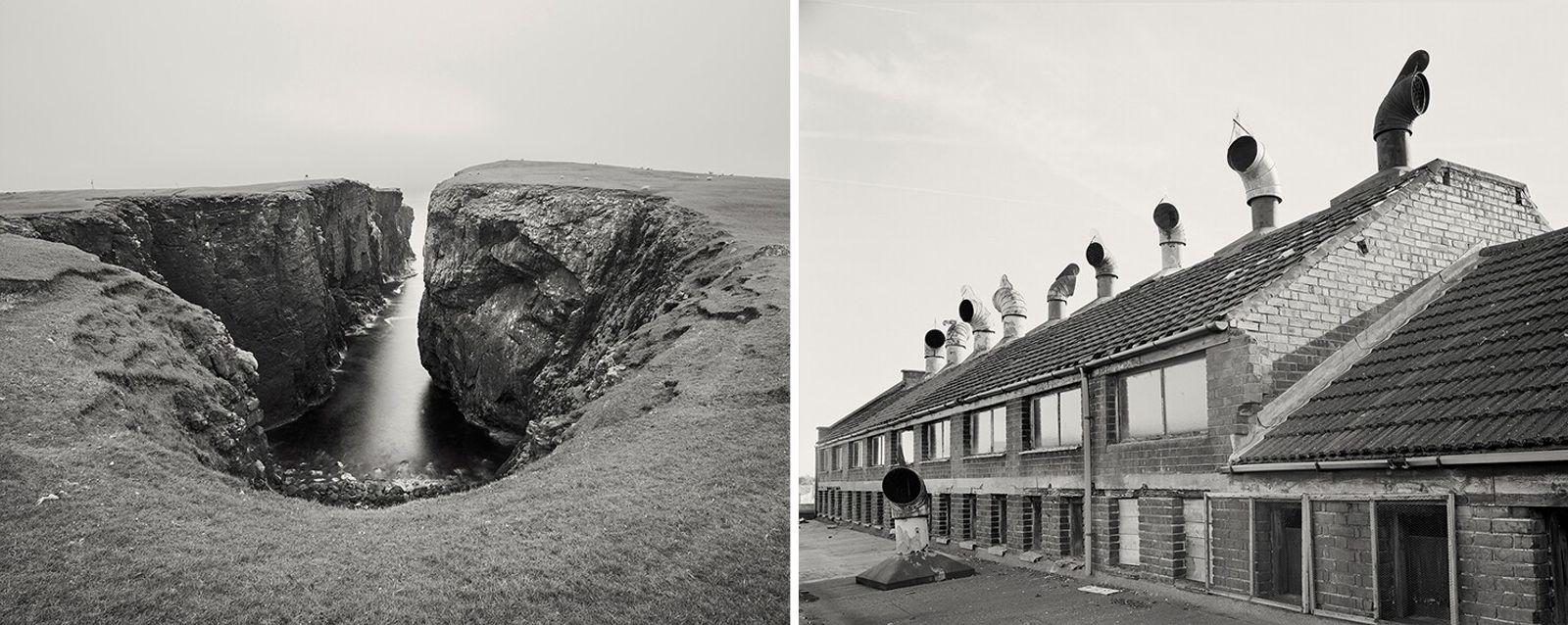 Left: An easing in the cliffs at Eshaness, Shetland. The islands were the northerly point of Craig Easton's ...