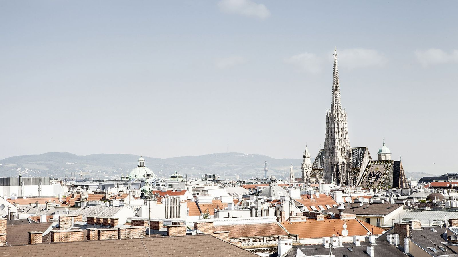 View over Vienna to St Stephen's Cathedral.