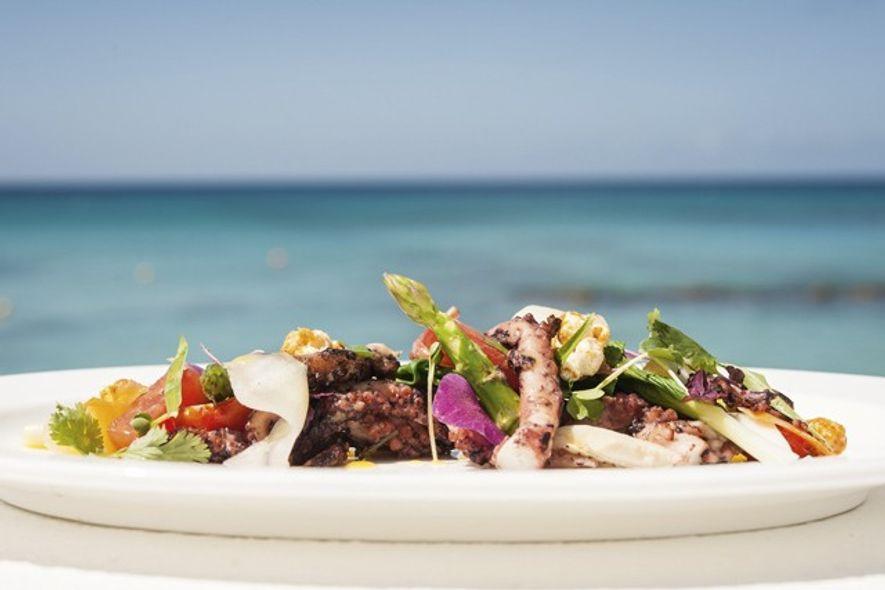 Seafood dish at Camelot Restaurant. Image: Audrey Gillan