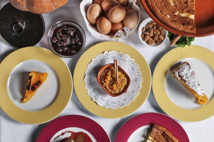 A range of sweet desserts at Fialho