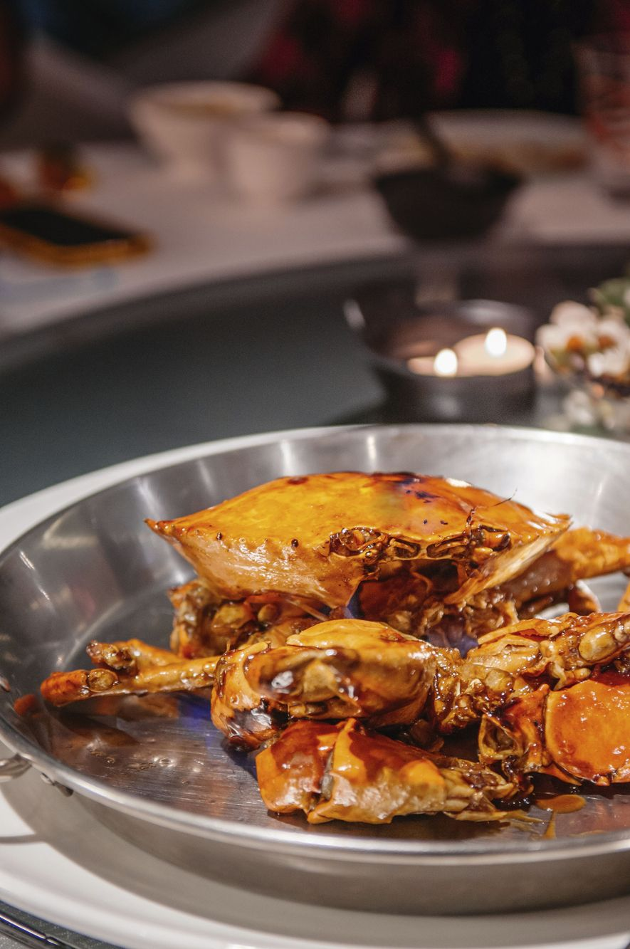 Chilli crab.