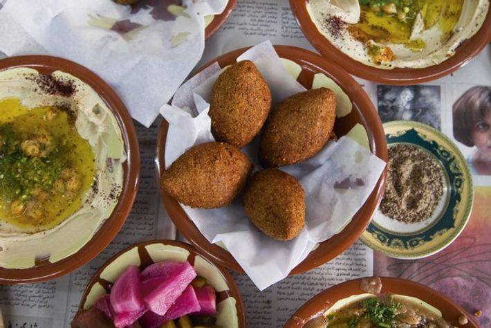 A traditional lunch at Muhyeddin Awwad restaurant. Image: Getty