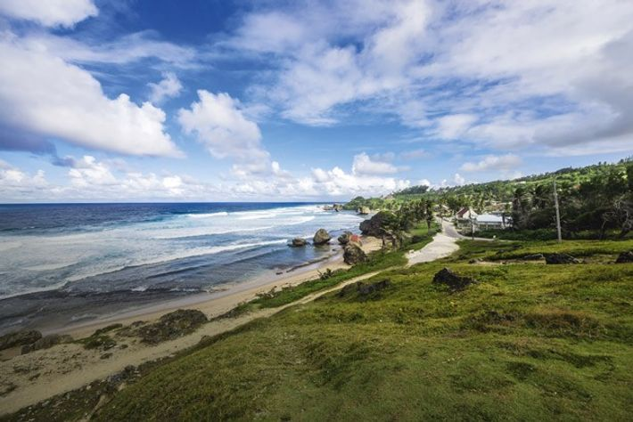 Rural views across the beach and Atlantic Coast