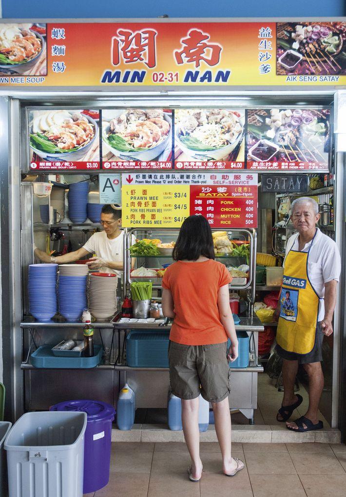 Hawker stall, Tiong Bahru Market