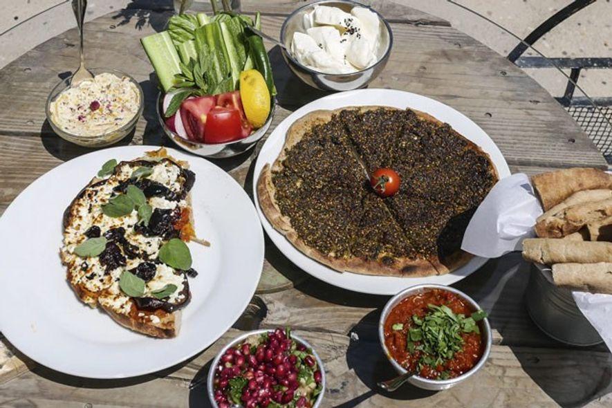 Jordanian breakfast at Shams El Balad cafe. Image: Audrey Gillan