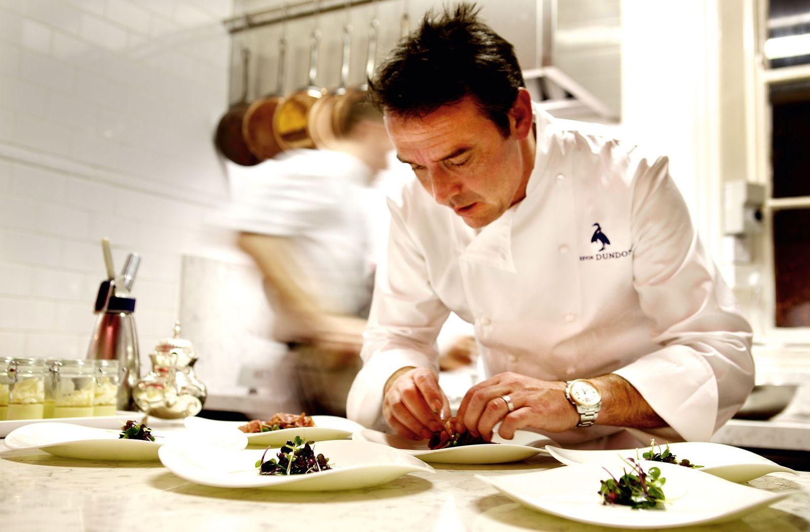 Chef Kevin Dundon plating up