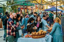 A busy street fair in Montevideo's upscale Carrasco neighbourhood.