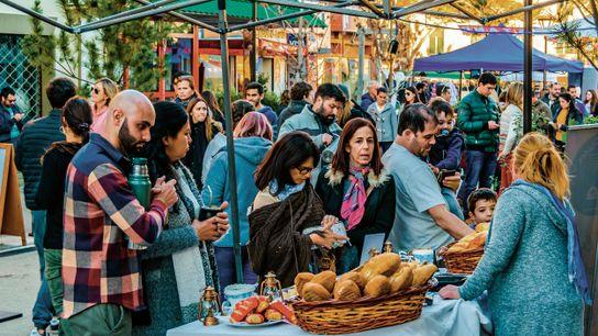 A busy street fair in Montevideo's upscale Carrasco neighbourhood.
