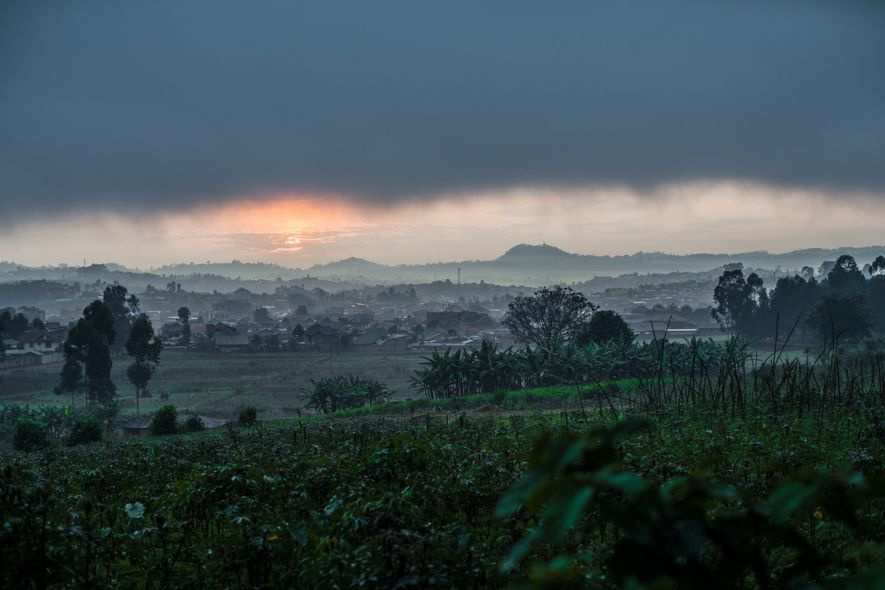 A view across Butembo from the site of an attacked Médecins Sans Frontières (MSF) Ebola treatment ...