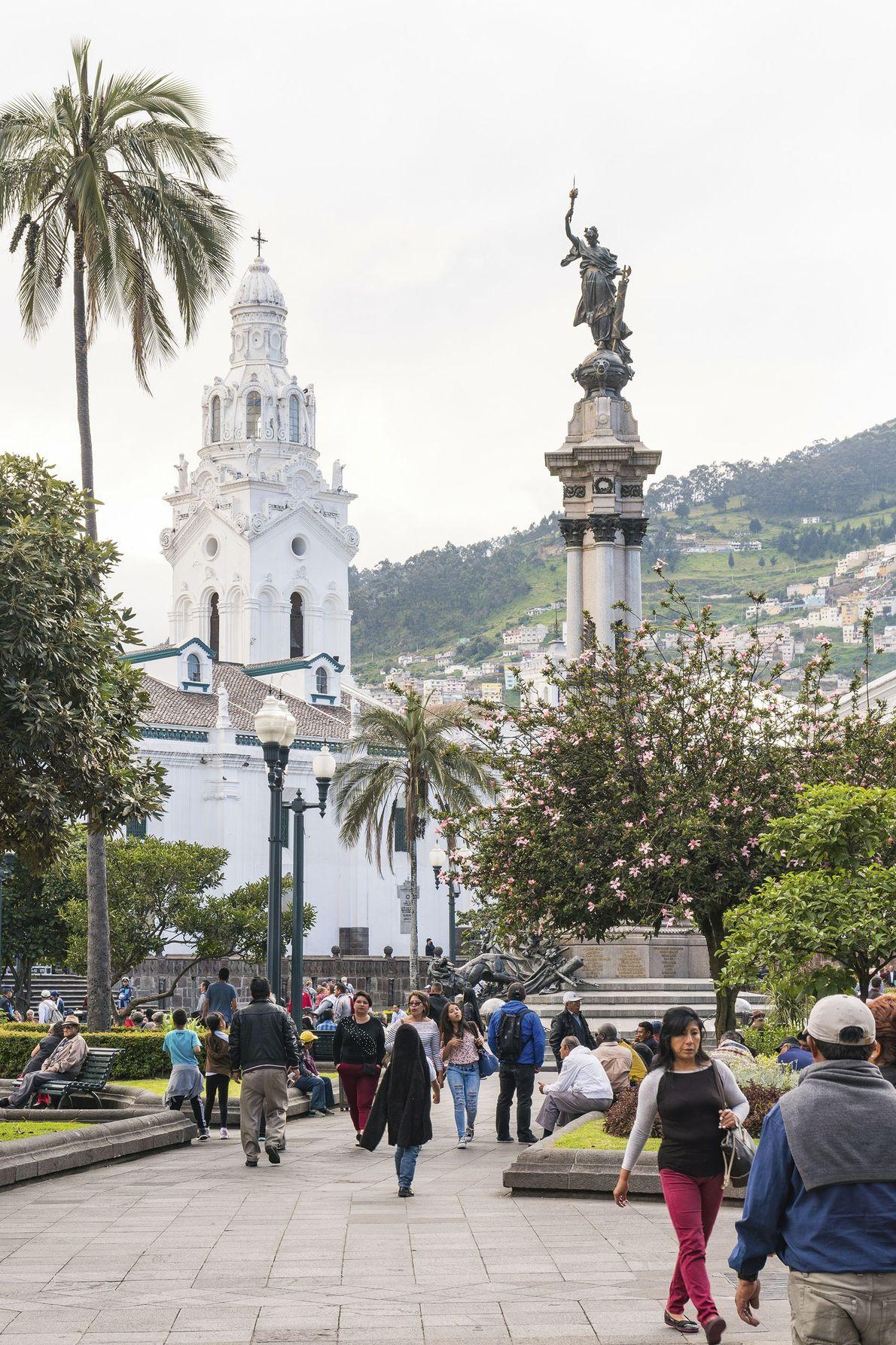 In the historic centre of Quito.