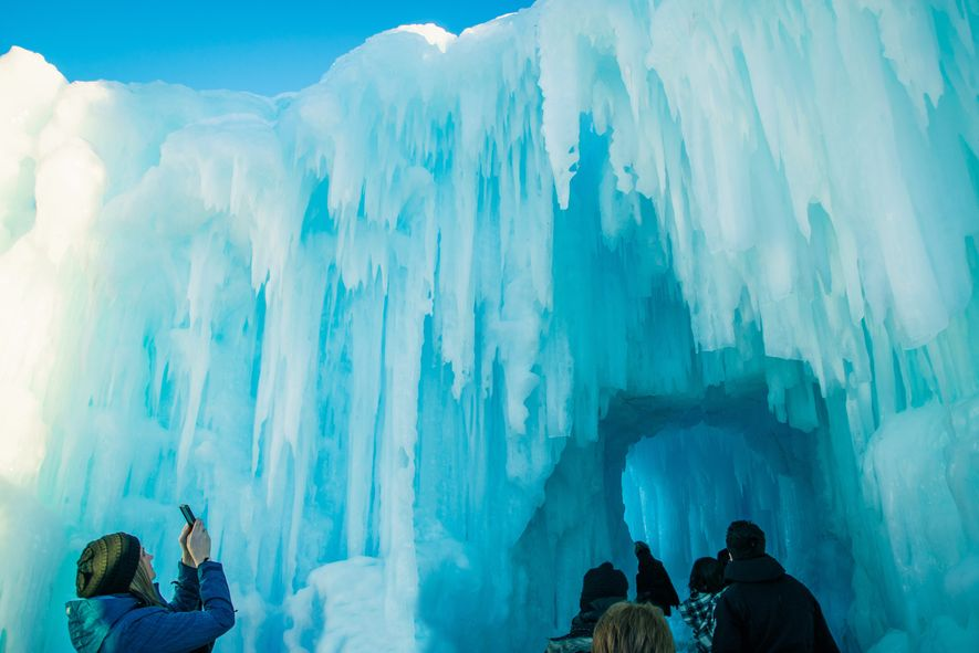Edmonton Winter Festival in Alberta, Canada.