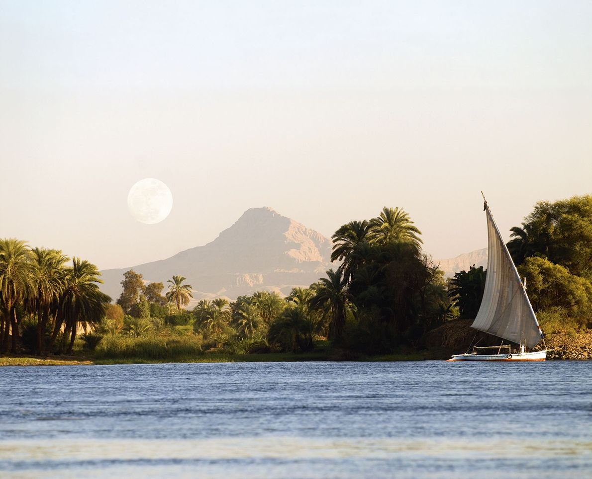 A felucca on the Nile.