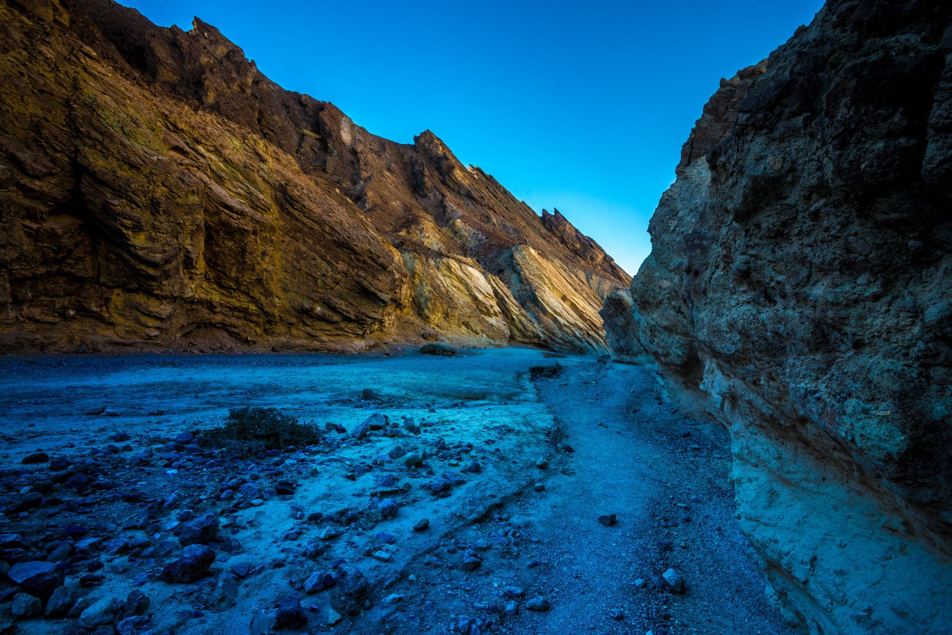 Death Valley's many canyons – such as Golden Canyon, pictured – stood in for the planet ...