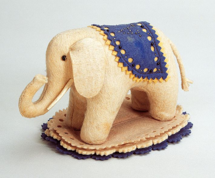 The 'Elefantle' made by seamstress Margarete Steiff in 1880 was originally made as a pincushion; on hearing ...