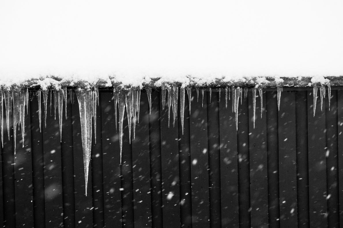 "Icicles on a rorbu hut, Hamnøy, Lofoten, during winter. Stian Klo: ""the old fisherman hamlets are ..."