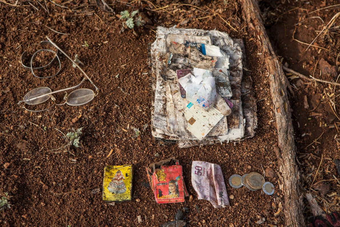 Migrants left these personal effects behind in the Sonoran Desert of Arizona.