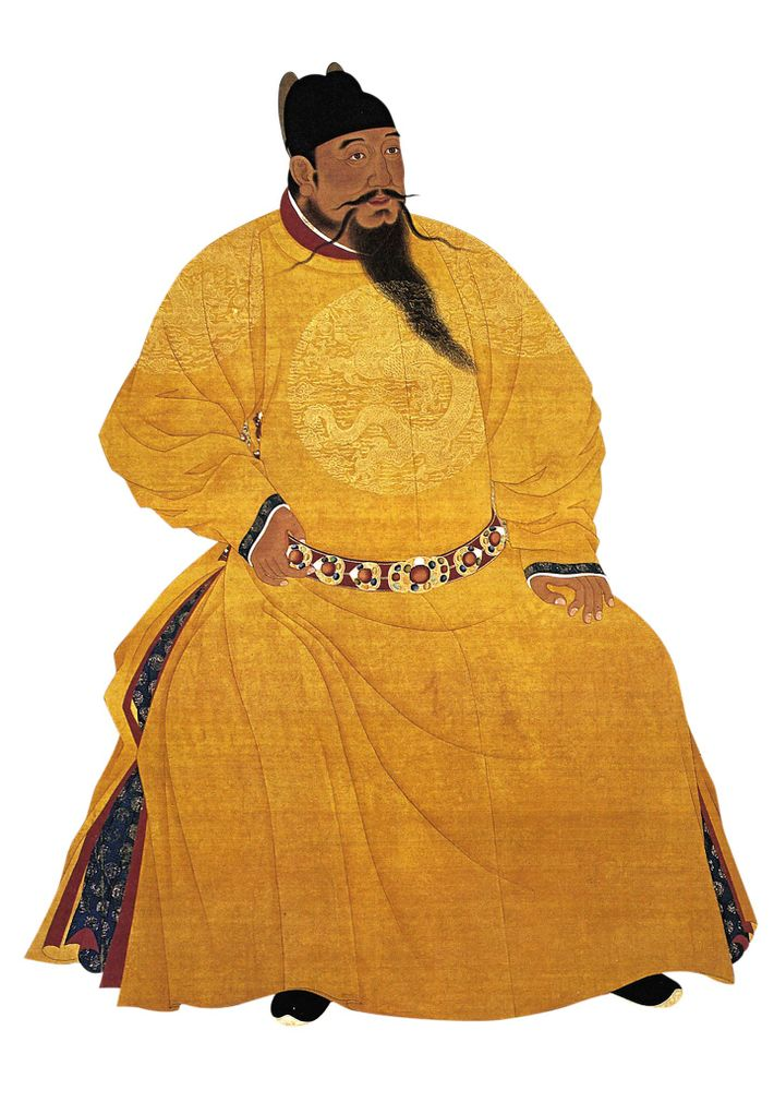 Sponsor to Zheng He, the Ming emperor Yongle—pictured in a 20th-century illustration— moved his capital to ...