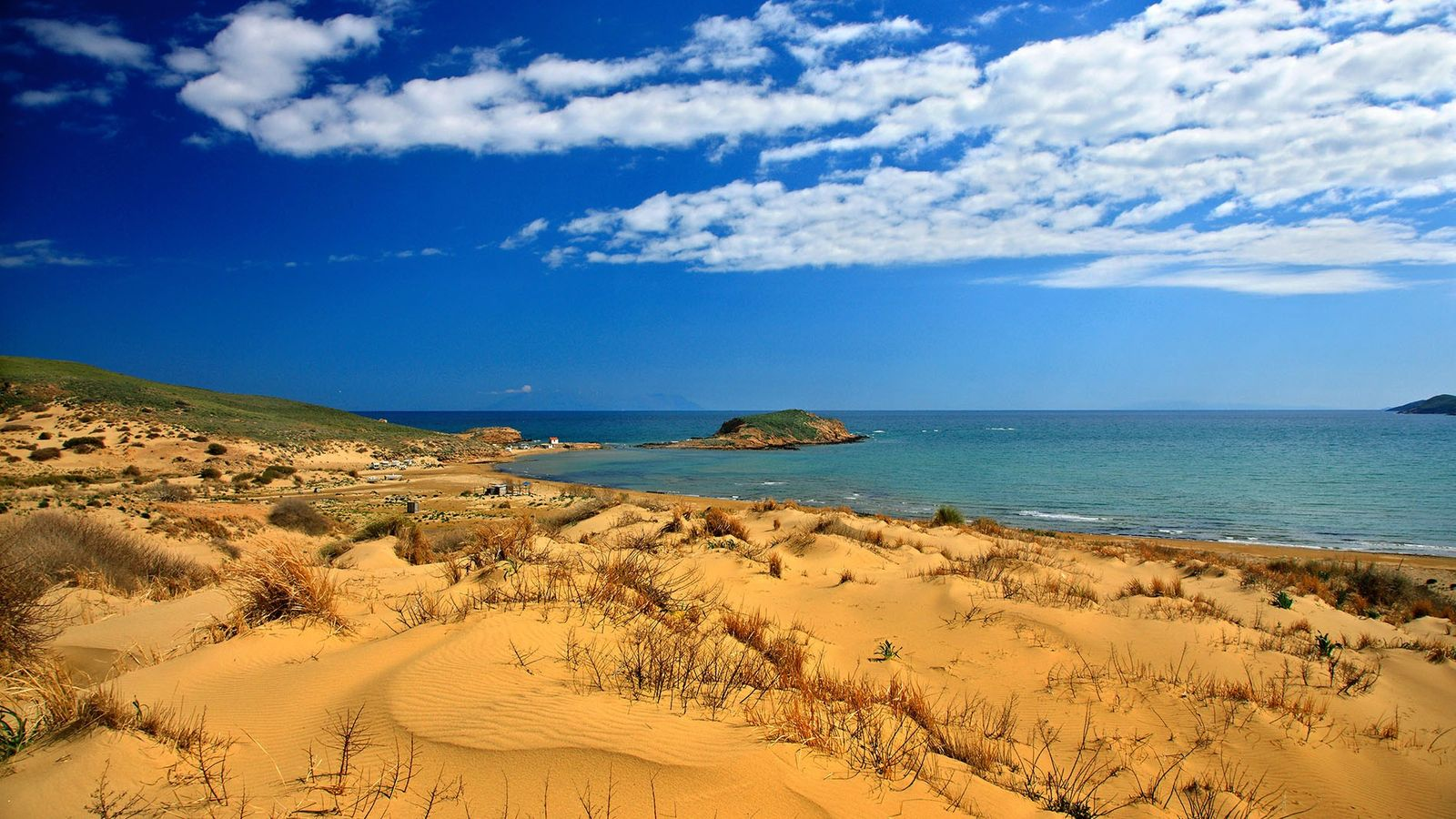 Perhaps the most iconic beach on Limnos, Gomati's golden sands lie on the north of the island, ...