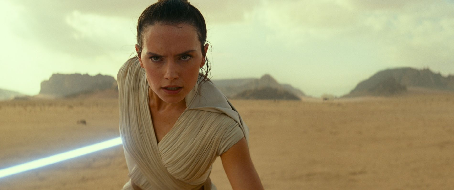 Rey (Daisy Ridley) in a scene from Star Wars: The Rise of Skywalker. Many of the ...