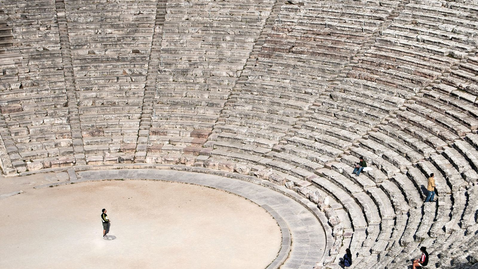 Epidaurus, an ancient Greek theatre with exceptional acoustics, was built in the fourth century B.C.