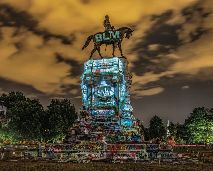 A BACKLASH AGAINST SYSTEMIC RACISM  06.18, Richmond, VA The statue of Robert E. Lee is transformed ...