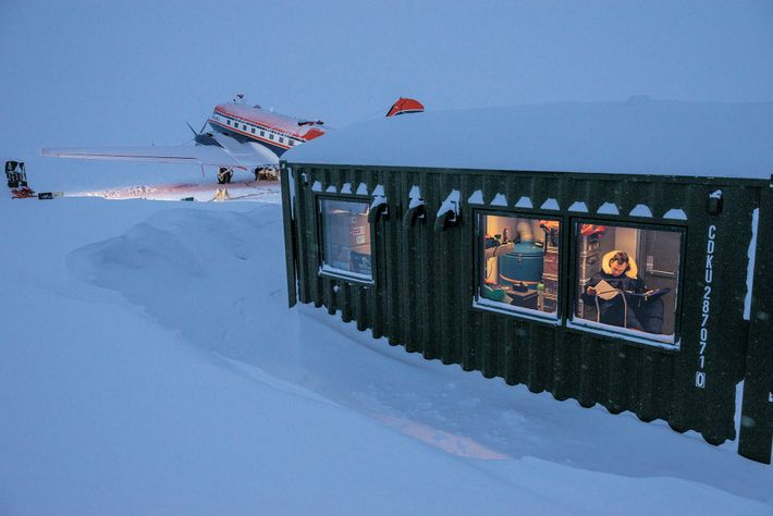 The Polar 5 research plane, a modified turbine DC-3, is a key piece of equipment that ...