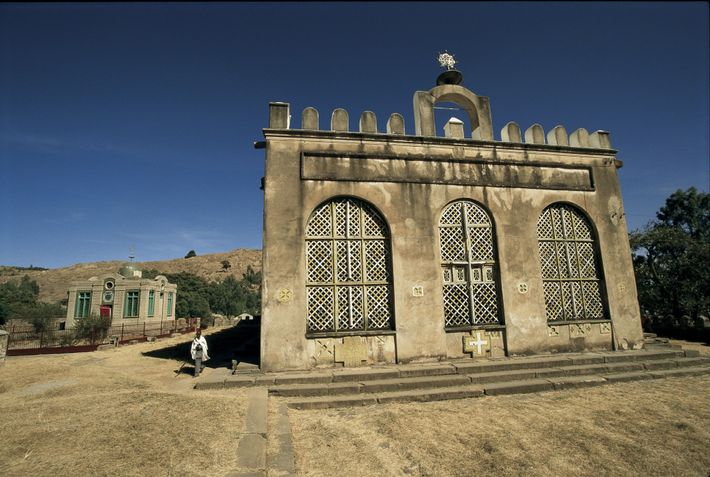 Near the Church of St. Mary of Zion, in Aksum, the unassuming Chapel of the Tablet ...