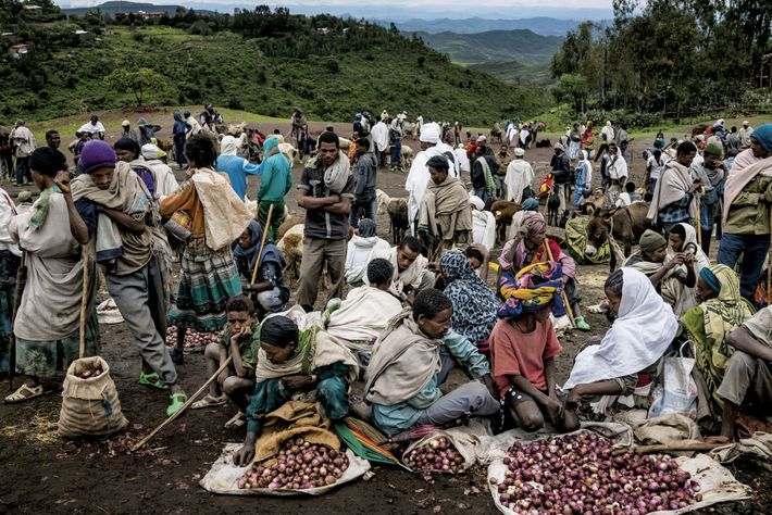 In a country where 80 percent of the population remains agrarian, this produce market in the ...