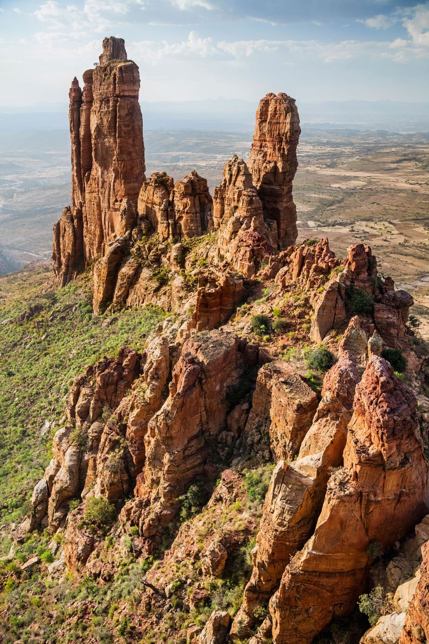 The needle sandstone pinnacle of Guh.