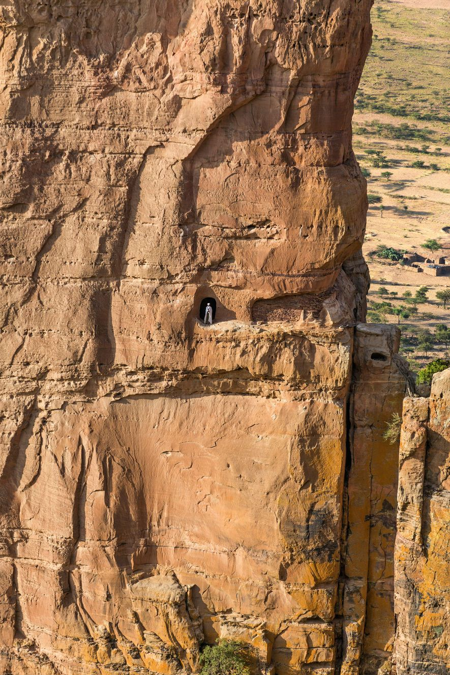A cave into the needle pinnacle of Guh.