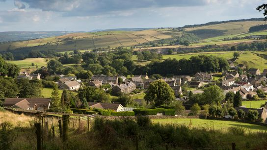 The village of Eyam in Derbyshire, often referred to as the 'plague village' – where, in ...