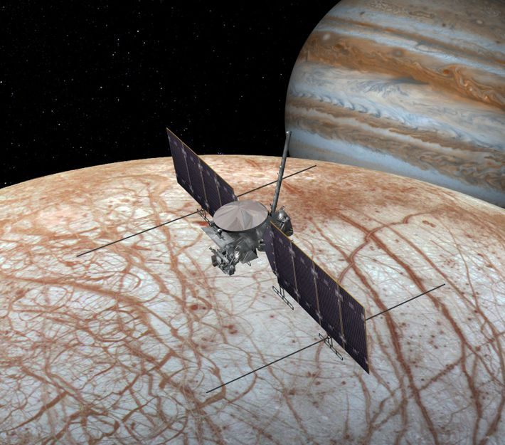 NASA's Europa Clipper will study Jupiter's icy moon, Europa, to see whether it could support life. ...