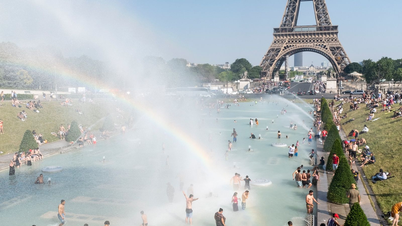 France has experienced record temperatures in recent weeks, with some areas reporting 45°C.