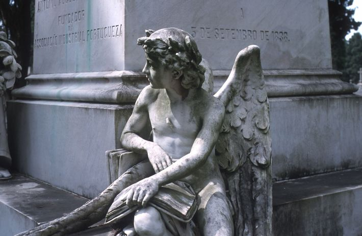 The marble mausoleums of Prazeres cemetery house some of Europe's most prominent artists, actors, aristocrats, and ...