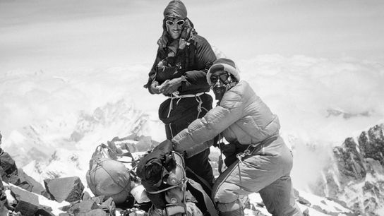 Edmund Hillary and Tenzing Norgay were the first people to summit Mount Everest in 1953.