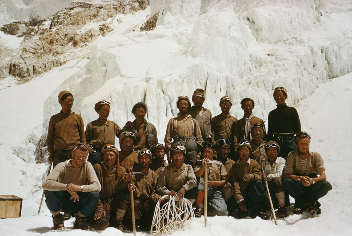 A group of Sherpas helped lead the first successful climb of Everest.