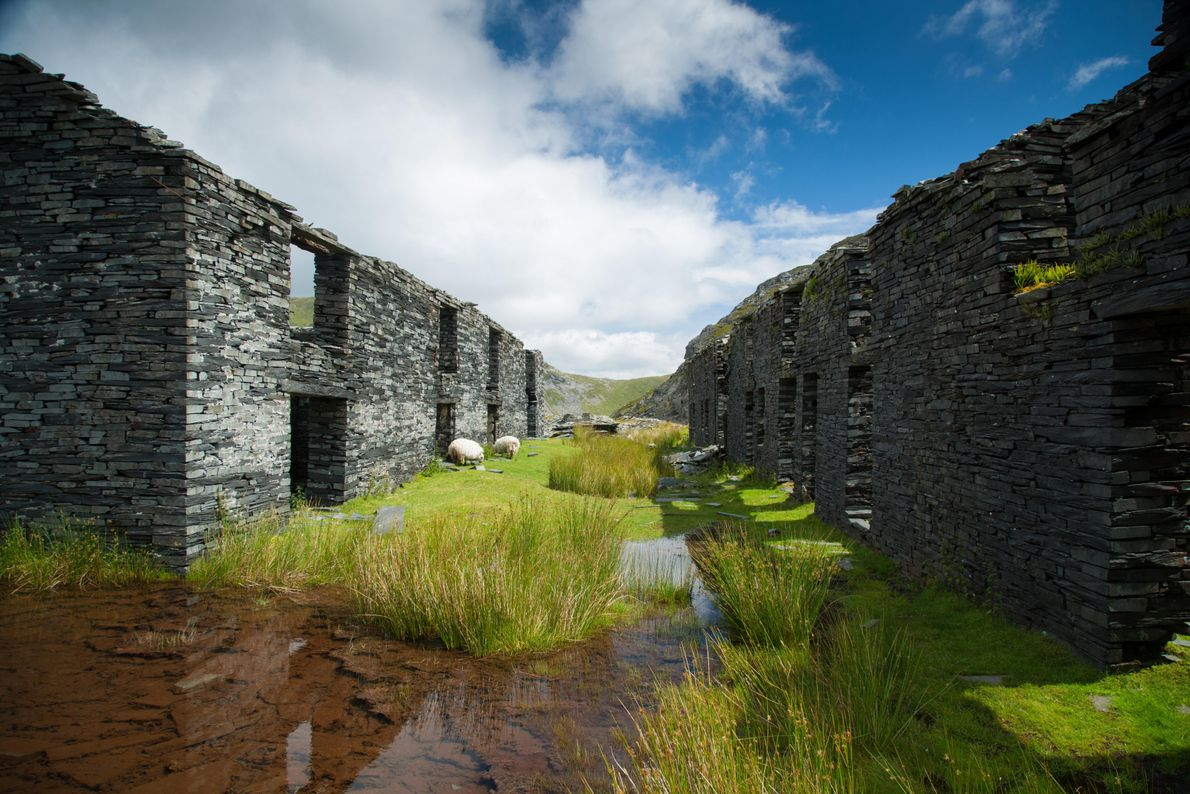 Unpolished evidence of Wales's industrial past can still be found in remote locations. Some are substantial, ...
