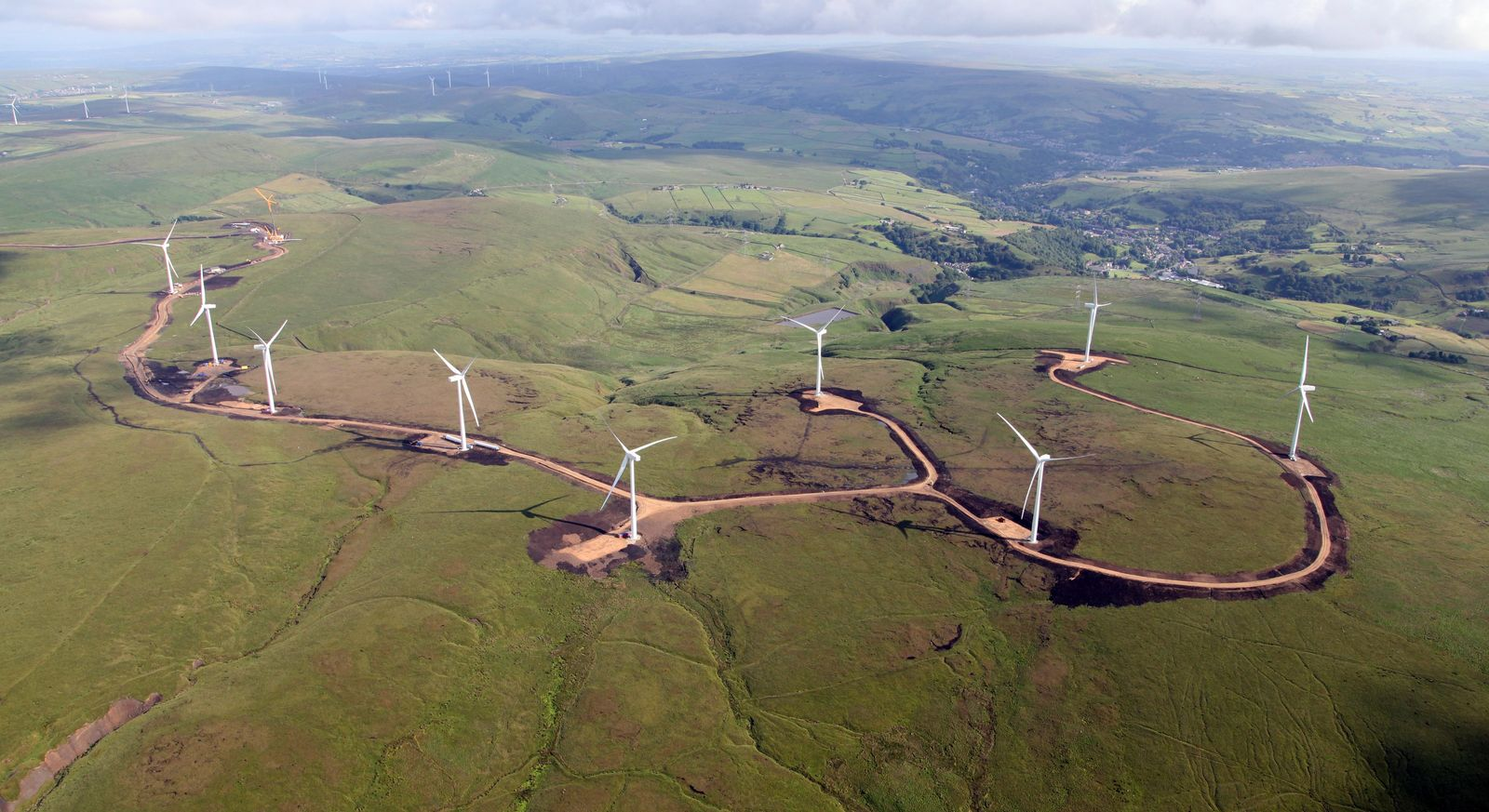 Infrastructure for wind farms has resulted in habitat modification or clearing due to the need for ...