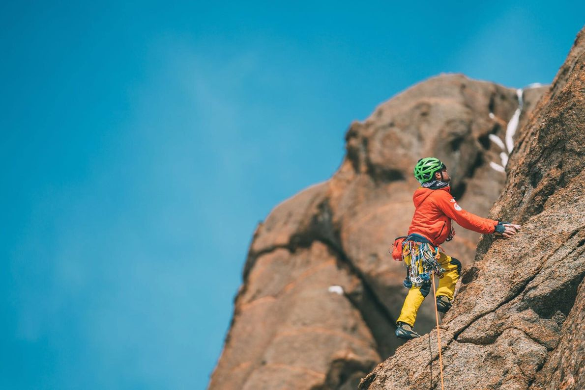 """Cedar Wright took the """"sharp end of the rope,"""" as climbers say, and led his teammates ..."""