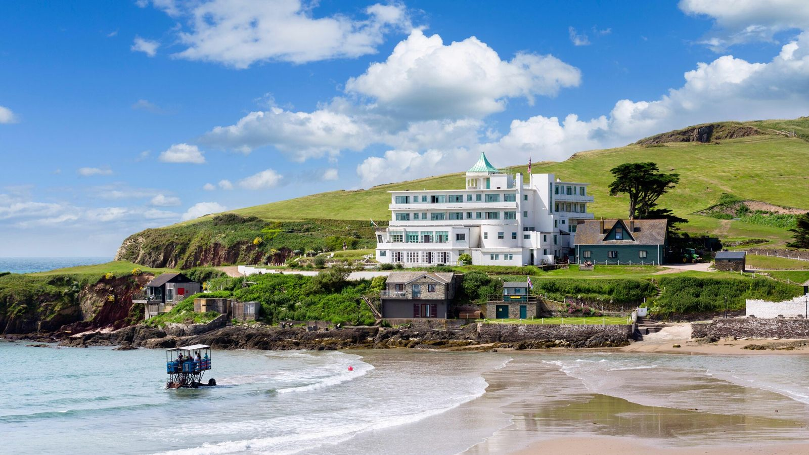 Burgh Island Hotel, Devon, offers old-world glamour and is the setting for two of Agatha Christie's ...