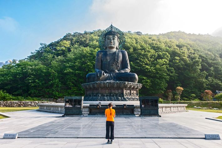 Seoraksan National Park is crisscrossed by a web of hiking paths, and is home to Silla-era temples Sinheungsa and Baekdamsa, ...