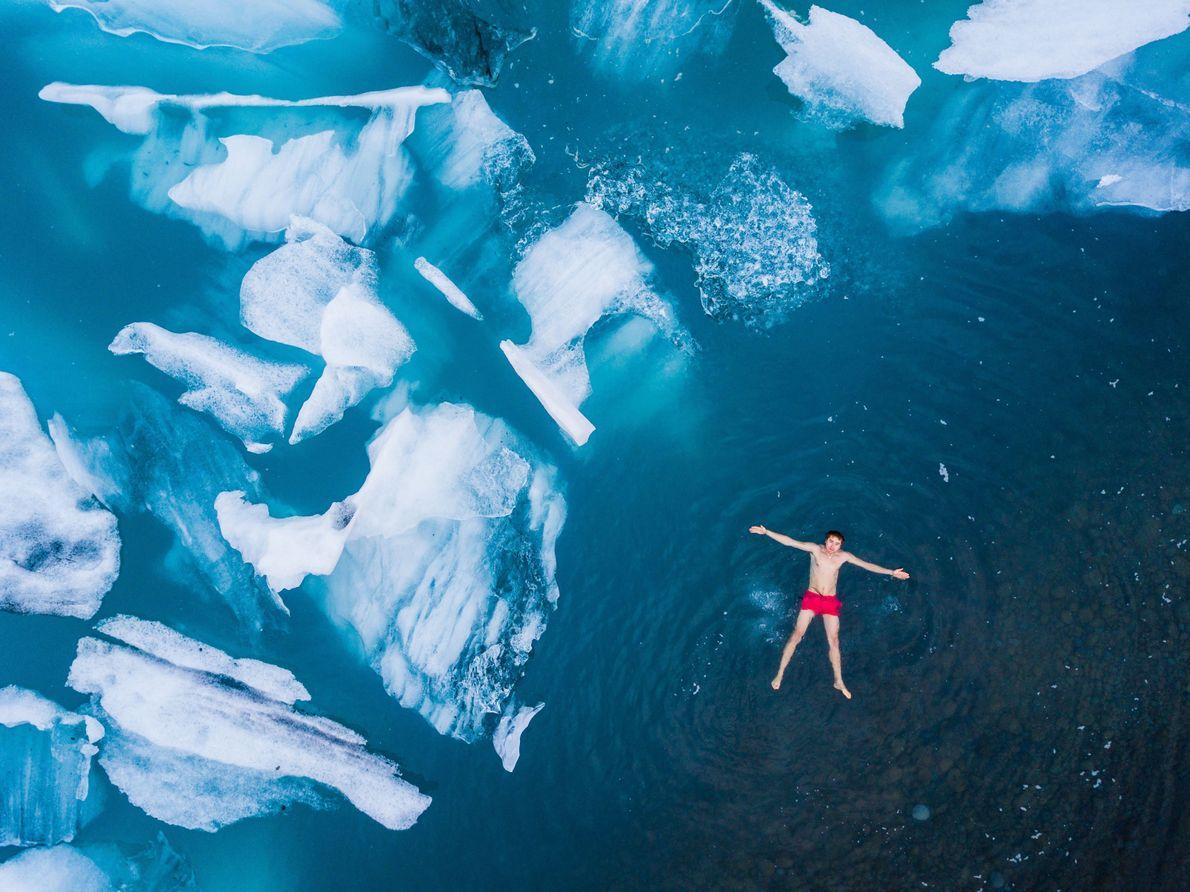 An Icy Swim
