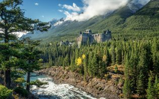 View of the Fairmont Banff Springs Hotel.