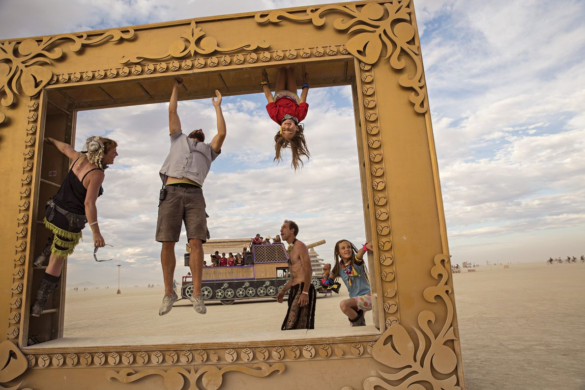 Adults aren't the only attendees that get to enjoy Burning Man, some parents bring their children ...
